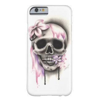 Coque Barely There iPhone 6 Cas doux de téléphone de collier de crâne de fleur