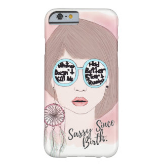 Coque Barely There iPhone 6 Cas impertinent de fille