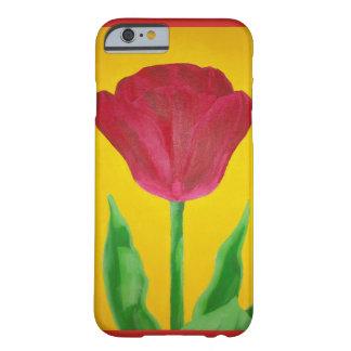 Coque Barely There iPhone 6 Cas peint de téléphone de tulipe