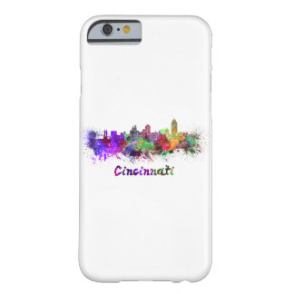 Coque Barely There iPhone 6 Cincinnati skyline in watercolor