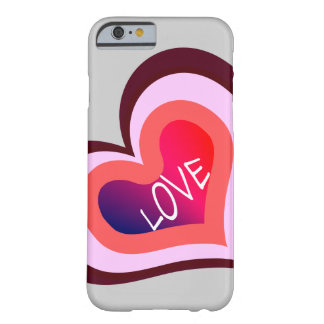 Coque Barely There iPhone 6 Coeur d'amour