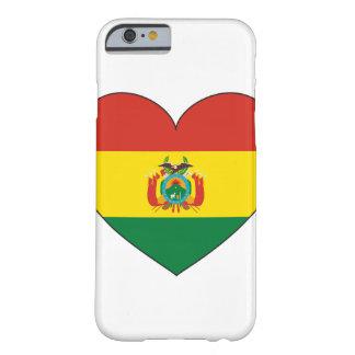 Coque Barely There iPhone 6 Coeur de drapeau de la Bolivie