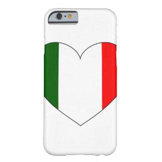 Coque Barely There iPhone 6 Coeur de drapeau de l'Italie