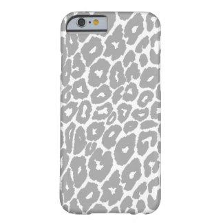 Coque Barely There iPhone 6 Commutateur gris de tache d'empreinte de léopard