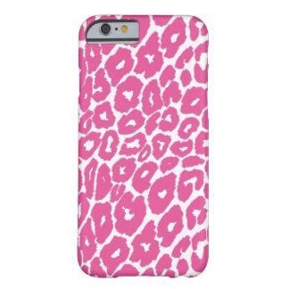 Coque Barely There iPhone 6 Commutateur rose de tache d'empreinte de léopard
