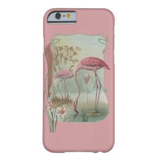 Coque Barely There iPhone 6 Conception rose de Nouveau d'art de flamant