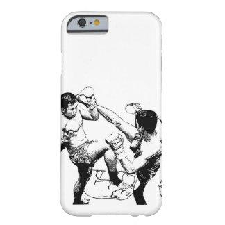 Coque Barely There iPhone 6 coup-de-pied de combat de muaythai