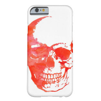 Coque Barely There iPhone 6 Crâne en rouge