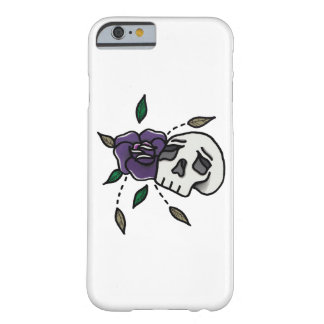 Coque Barely There iPhone 6 Crâne Phonecase. de //de fleur