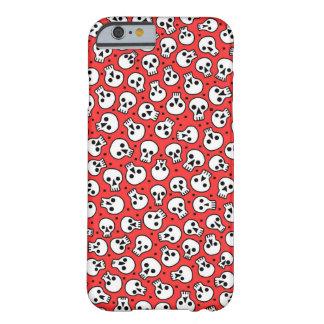 Coque Barely There iPhone 6 Crânes sur la caisse rouge de l'iPhone 6/6s