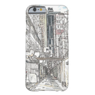 Coque Barely There iPhone 6 Croquis urbain de Hong Kong. Kowloon