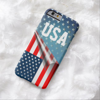 Coque Barely There iPhone 6 Drapeau américain embobiné