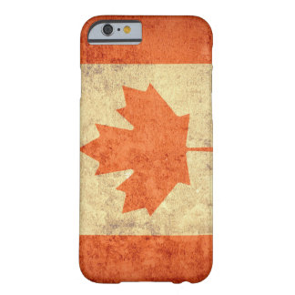 Coque Barely There iPhone 6 Drapeau du Canada - grunge