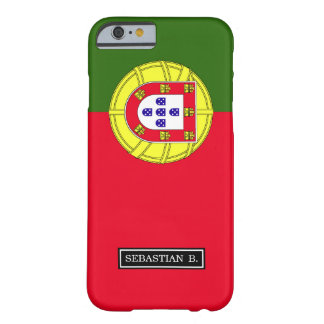 Coque Barely There iPhone 6 Drapeau du Portugal