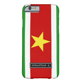 Coque Barely There iPhone 6 Drapeau du Surinam