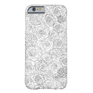 Coque Barely There iPhone 6 D'une manière attirante floral