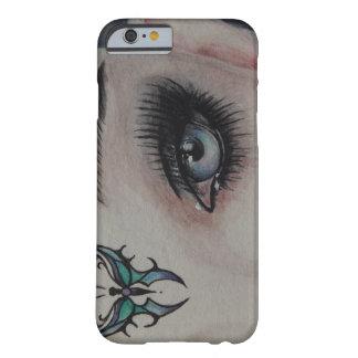 Coque Barely There iPhone 6 Elle/fille avec le tatouage de papillon