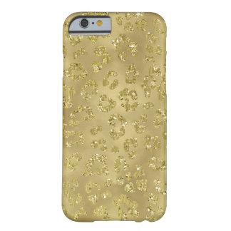 Coque Barely There iPhone 6 Empreinte de léopard d'or