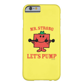 Coque Barely There iPhone 6 Fer de pompage avec M. Strong