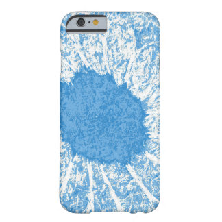 Coque Barely There iPhone 6 fleur bleue
