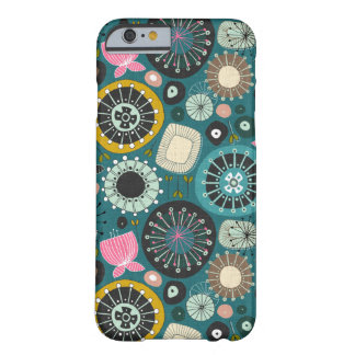 Coque Barely There iPhone 6 FLEURIT la sarcelle d'hiver