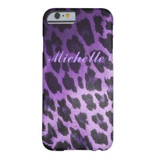 Coque Barely There iPhone 6 Fourrure pourpre de léopard