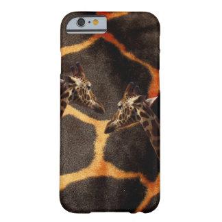 Coque Barely There iPhone 6 Girafes sur l'arrière - plan exotique de girafe,