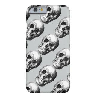 Coque Barely There iPhone 6 Grimaçant le cas de l'iPhone 6 de crâne - gris