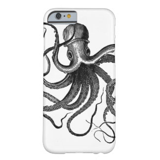 Coque Barely There iPhone 6 Illustration vintage de poulpe
