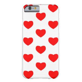 Coque Barely There iPhone 6 Image de tuile de coeur sur le cas de téléphone de