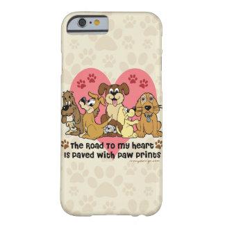 Coque Barely There iPhone 6 La route à mes chiens de coeur
