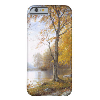 Coque Barely There iPhone 6 Lac forest dans Automn