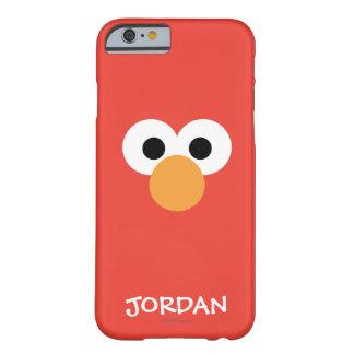 Coque Barely There iPhone 6 Le grand visage   d'Elmo ajoutent votre nom