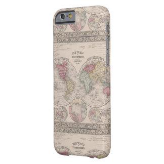 Coque Barely There iPhone 6 Le monde 1860 - oriental et hémisphères de l'ouest