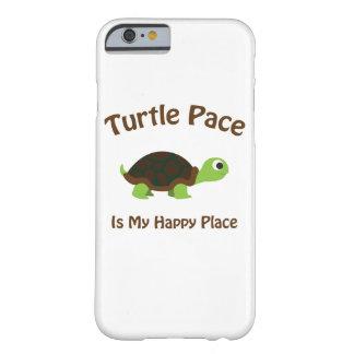 Coque Barely There iPhone 6 Le pas de tortue est mon endroit heureux