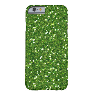 Coque Barely There iPhone 6 Le vert scintille cas de l'iPhone 6
