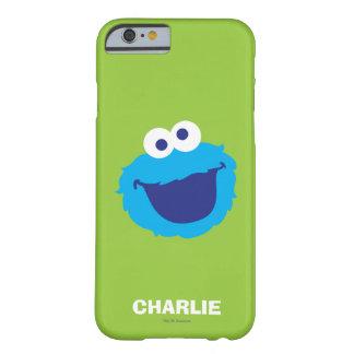 Coque Barely There iPhone 6 Le visage   de monstre de biscuit ajoutent votre