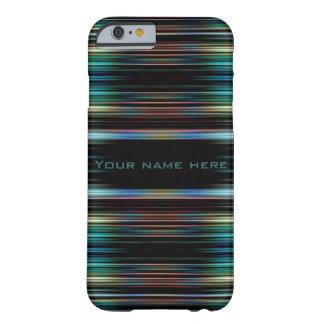 Coque Barely There iPhone 6 Lignes colorées sur un arrière - plan noir