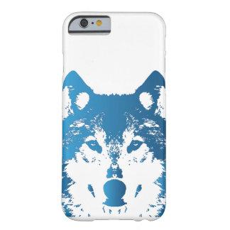 Coque Barely There iPhone 6 Loup de bleu glacier d'illustration