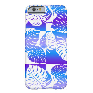 Coque Barely There iPhone 6 Mélange rayé hawaïen de Makua Monstera