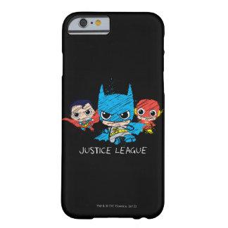 Coque Barely There iPhone 6 Mini croquis de ligue de justice