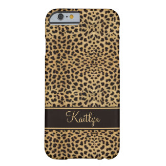 Coque Barely There iPhone 6 Monogramme chic d'empreinte de léopard