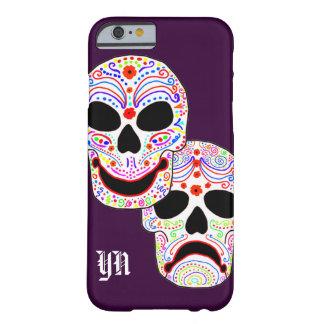 Coque Barely There iPhone 6 Monogramme de crânes de Halloween DOTD de