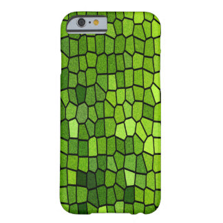 Coque Barely There iPhone 6 Mosaïque verte