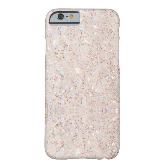 Coque Barely There iPhone 6 Motif blanc de texture de scintillement