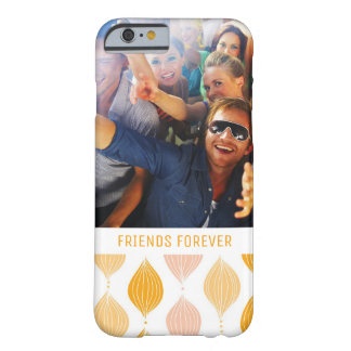 Coque Barely There iPhone 6 Motif d'or fait sur commande d'Ogee de photo et de