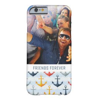 Coque Barely There iPhone 6 Motif nautique fait sur commande de photo et de