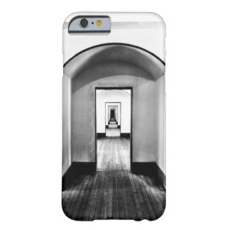 Coque Barely There iPhone 6 Motif noir et blanc de couloir moderne de photo