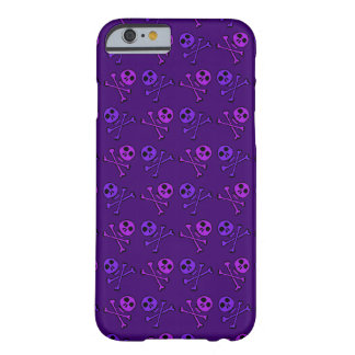 Coque Barely There iPhone 6 Motif pourpre de crâne de bande dessinée