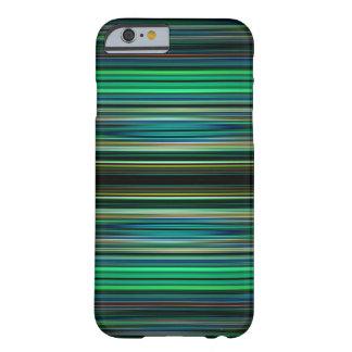 Coque Barely There iPhone 6 Motif rayé vert et noir